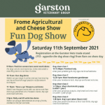 Come and see us at the Frome Dog Show on the 11th September